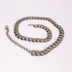 Vintage Double Chain Link Belt Adjustable Closure
